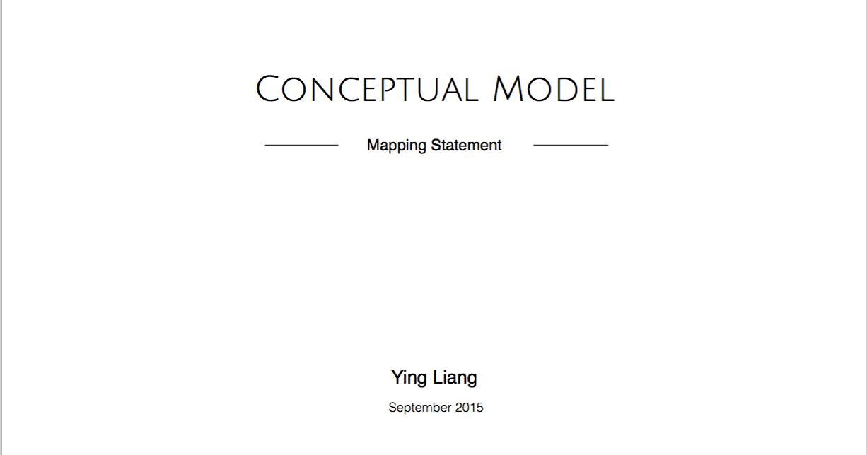 conceptual model, mental model